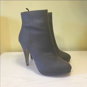 Gray Heeled Ankle Booties